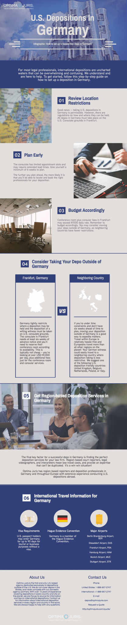[Infographic] Planning a deposition in Germany